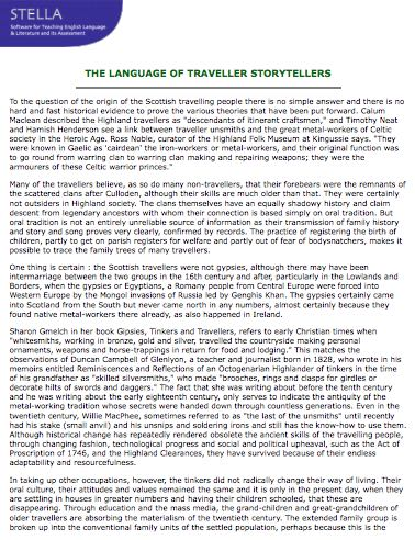 The Language of Traveller Storytellers